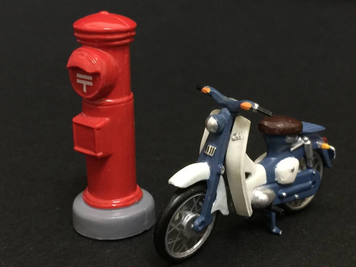 スーパーカブ バイク 赤ポスト ミニフィギュア 昭和レトロ_画像1