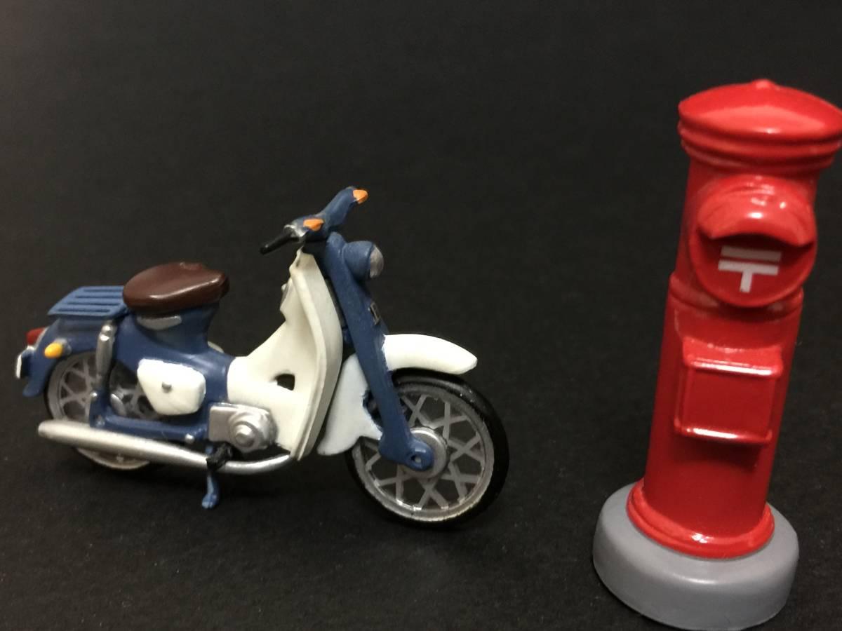 スーパーカブ バイク 赤ポスト ミニフィギュア 昭和レトロ_画像2