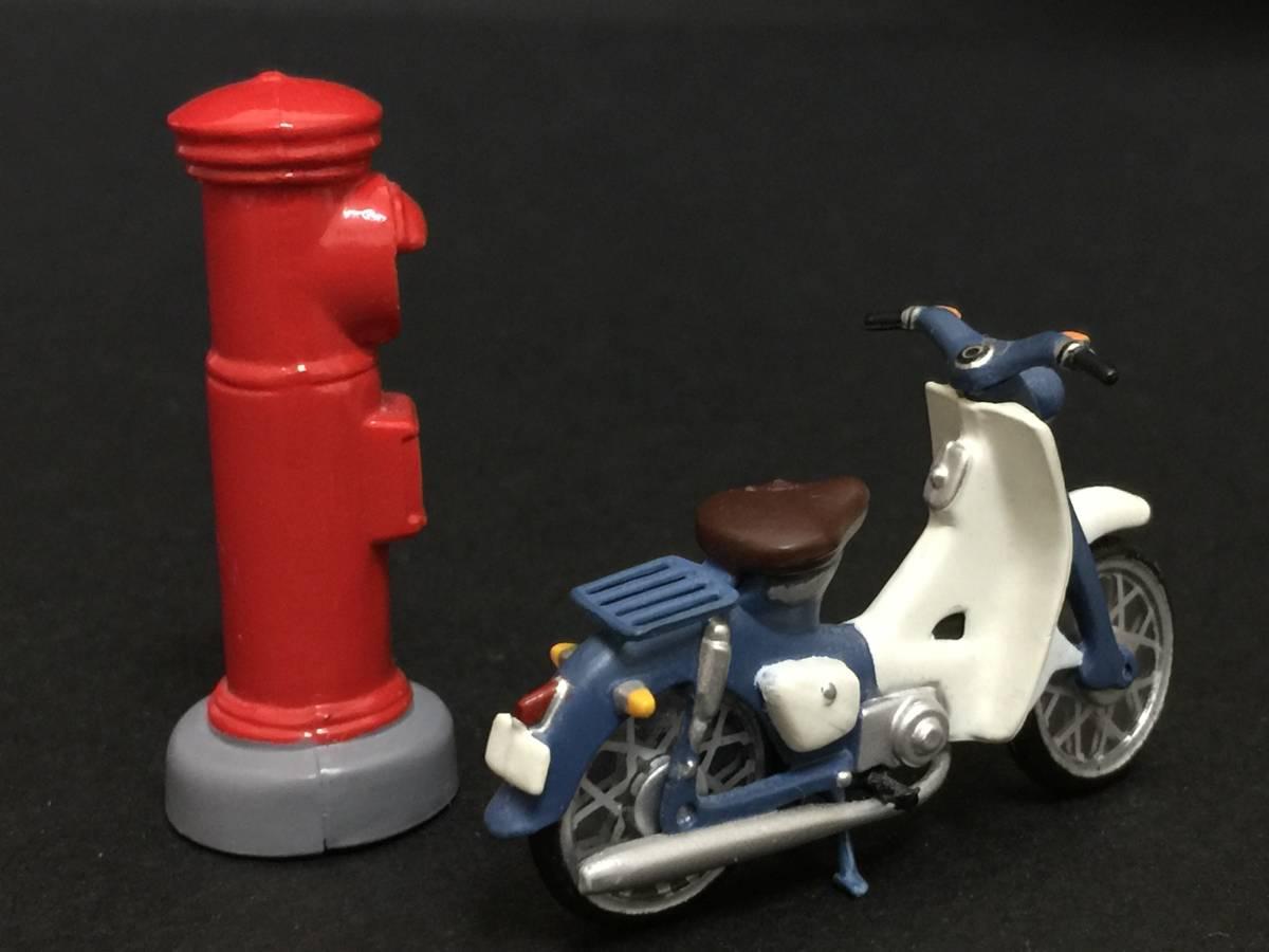 スーパーカブ バイク 赤ポスト ミニフィギュア 昭和レトロ_画像4