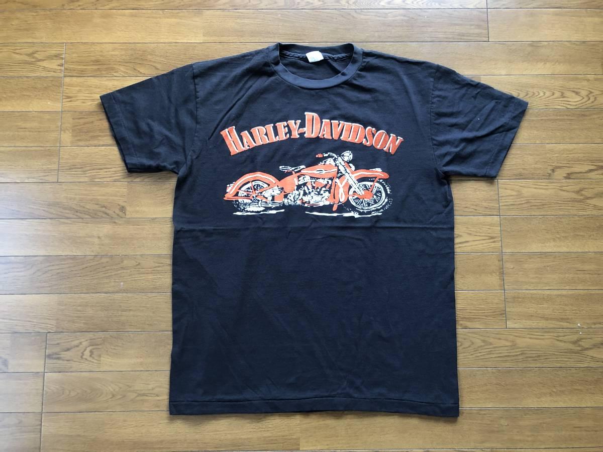 新品●ハーレーダビッドソン モーターサイクル ビンテージ加工 Tシャツ[XL]●MOTORCYCLES/HARLEY DAVIDSON_画像1