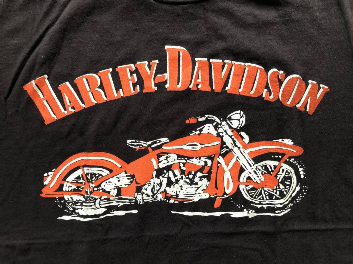 新品●ハーレーダビッドソン モーターサイクル ビンテージ加工 Tシャツ[XL]●MOTORCYCLES/HARLEY DAVIDSON_画像2