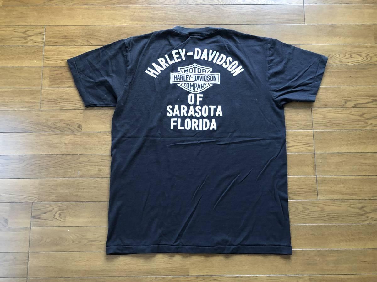 新品●ハーレーダビッドソン モーターサイクル ビンテージ加工 Tシャツ[XL]●MOTORCYCLES/HARLEY DAVIDSON_画像3