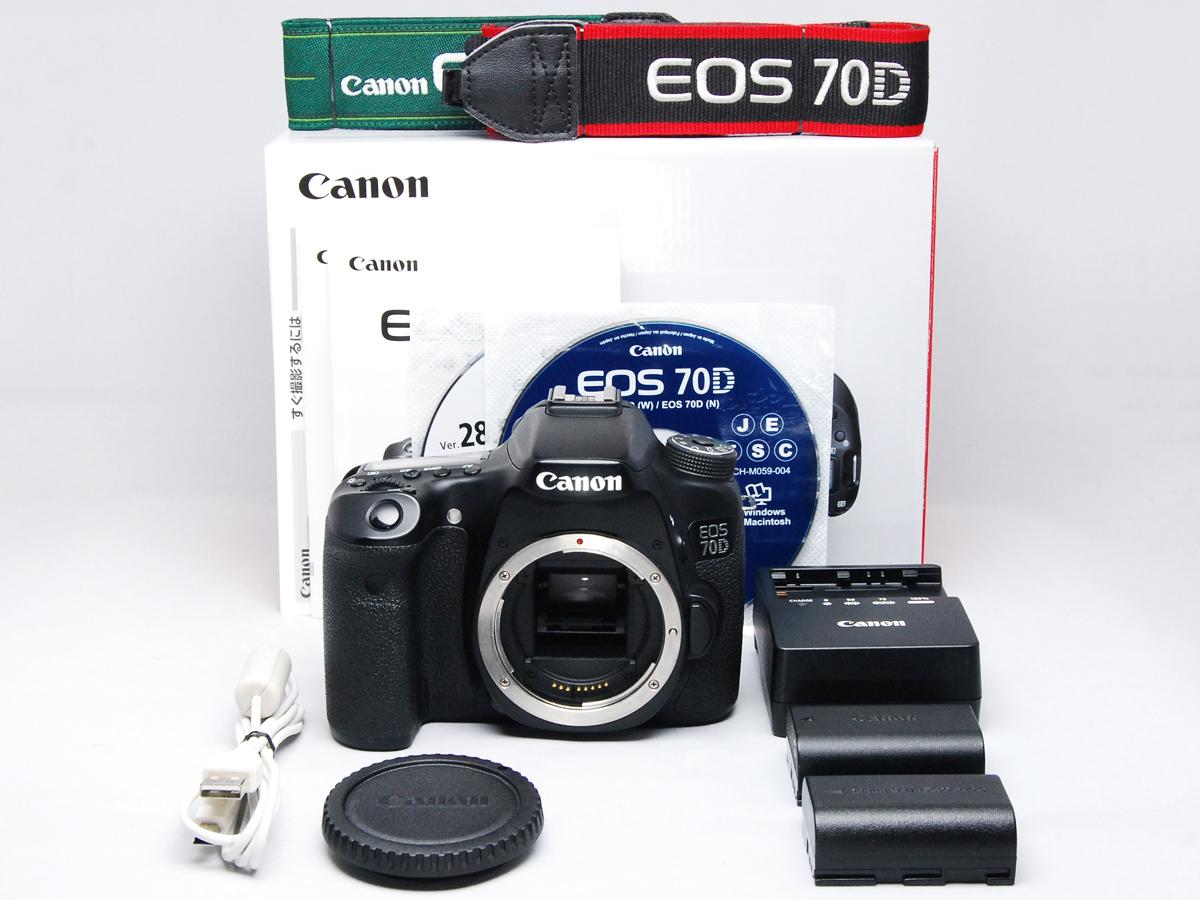 ■ほぼ新品■ キャノン Canon EOS 70D ボディ バッテリー2個・元箱付 付属品完備 #F03403N01250