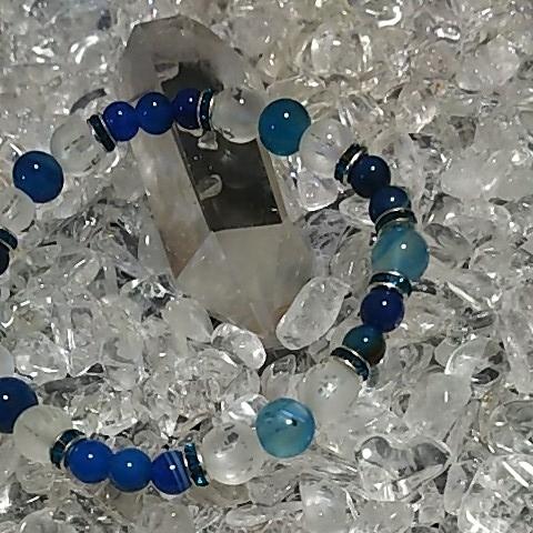 天然石 パワーストーン 水晶 風水 六字真言 ハンドメイド 6㎜ 8㎜_画像2