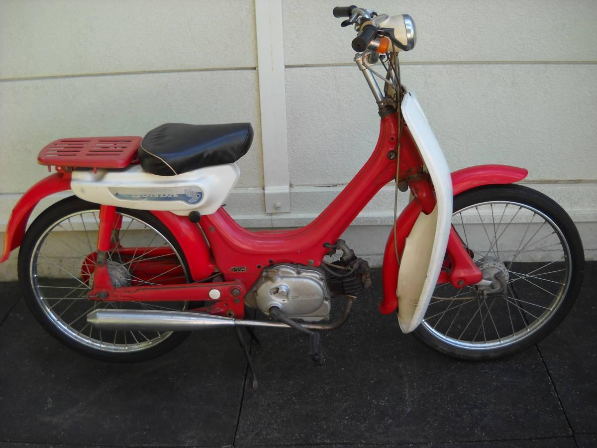 「リトルホンダ 49㏄ ホンダ PC50 2型 蔵出し モペット 原動機付自転車 昭和レトロ アンティーク 赤 純正車載工具付き 」の画像2
