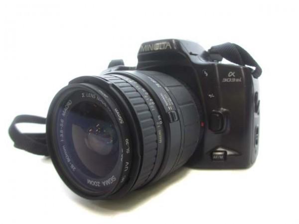 MINOLTA ミノルタ フィルムカメラ α 303si レンズ SIGMA ZOOM 28-80㎜ 1:3.5-5.6 MACRO ジャンク ZG4-191 ☆_画像1