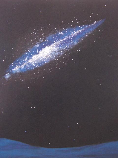 大野廣子、「GalaXY I」、希少な画集より、 新品高級額装付、状態良好、送料込み、日本人画家、coco_画像1