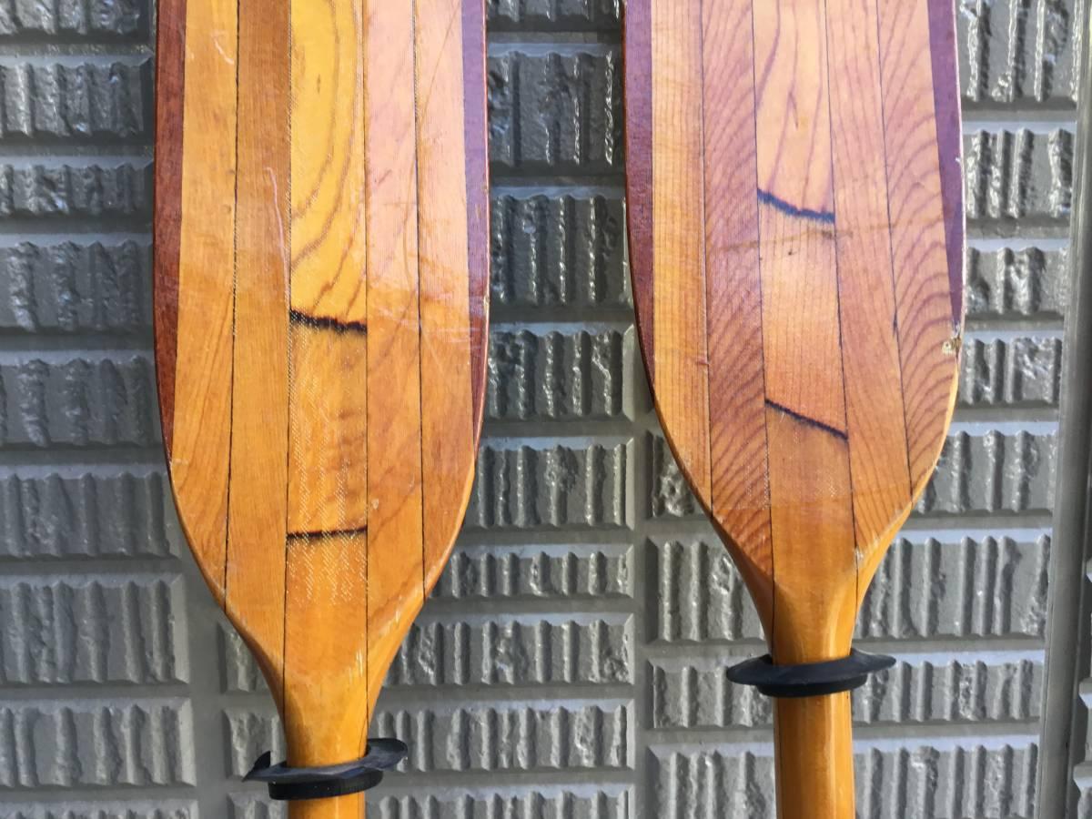 木製パドル ニンバス NIMBUS MADE IN CANADA  2ピース 230cm  シーカヤック_画像5