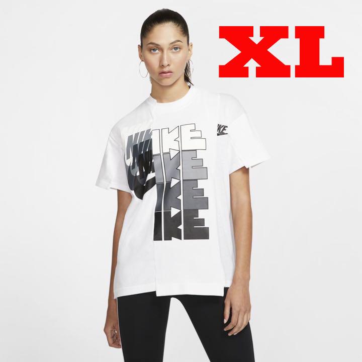 XL 新品 国内正規 Nike x sacai ウィメンズ ハイブリッド Tシャツ CD6310-100 / ナイキ サカイ NikeLab W Nrg Ga Tee Ni-12