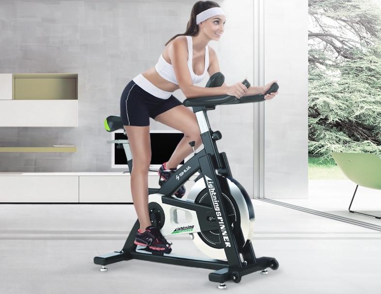 ほぼ無音!!スピンバイク 家庭用フィットネスバイク エクササイズ トレーニングマシーン 筋トレ スポーツ 運動器具 健康器具 エアロビクス_画像3