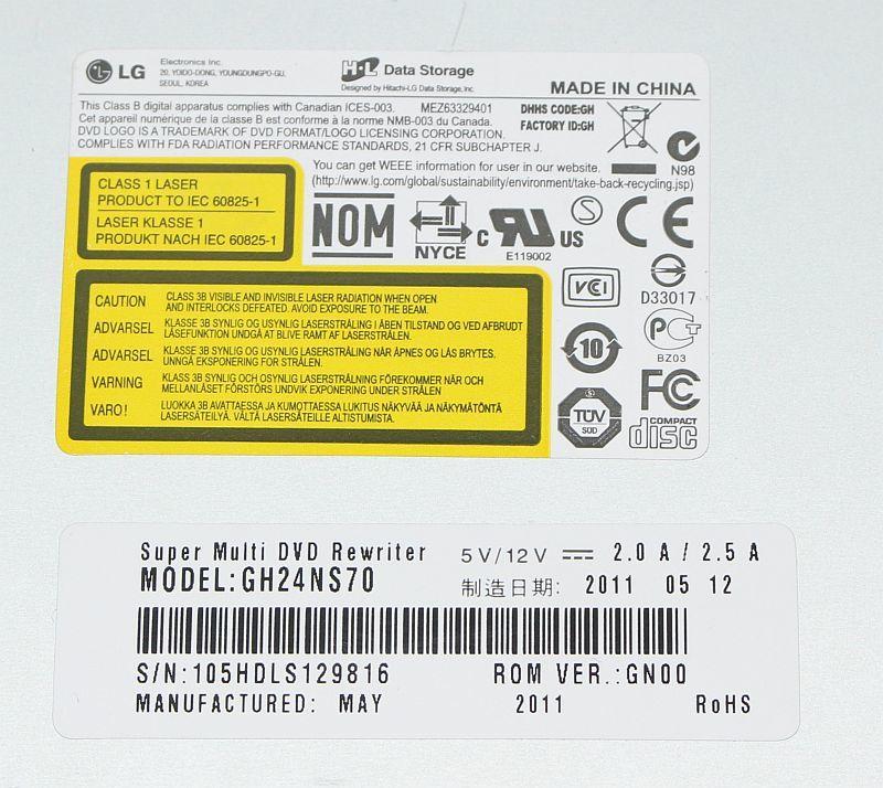 日立-LG スーパーマルチドライブ GH24NS70 SATA ブラック_画像3