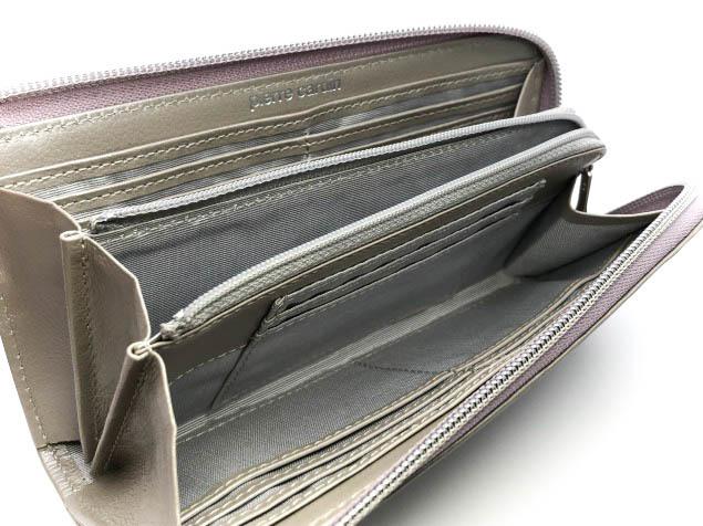 9s7f新品◆ピエール カルダン 本革レザー 長財布◆豚革×牛革/ルミエール922ローズLzip_画像3