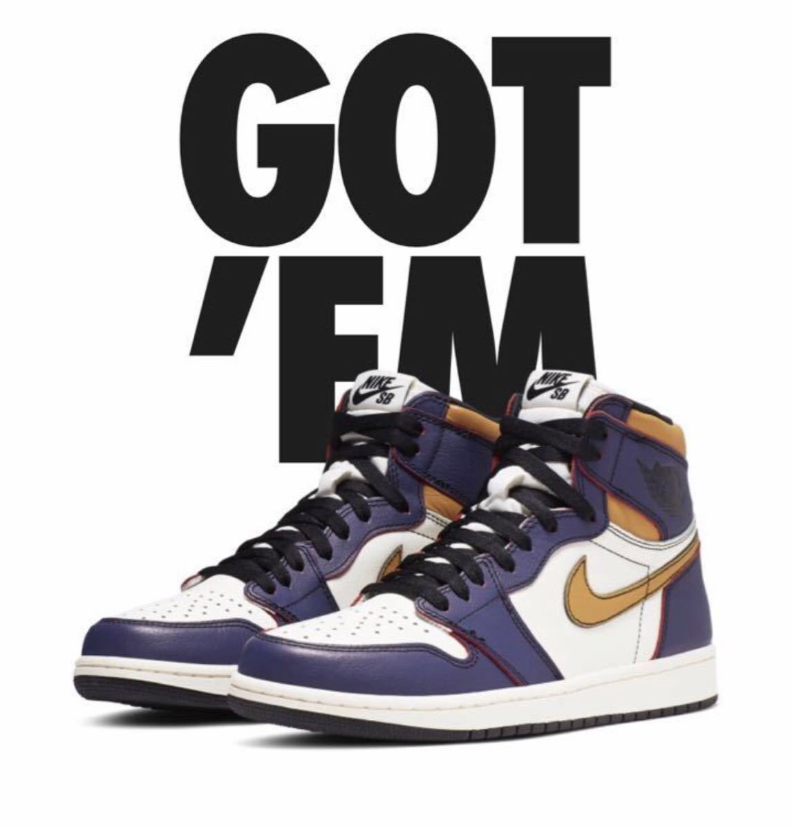 28.5cm NIKE SB AIR JORDAN 1 RETRO HIGH OG DEFIANT LA TO CHICAGO CD6578-507 ナイキ エアジョーダン1 レイカーズ US10.5 AJ1 正規品