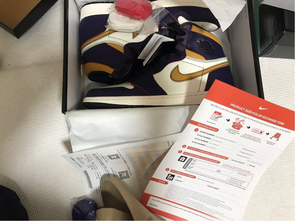 28.5cm NIKE SB AIR JORDAN 1 RETRO HIGH OG DEFIANT LA TO CHICAGO CD6578-507 ナイキ エアジョーダン1 レイカーズ US10.5 AJ1 正規品_画像2