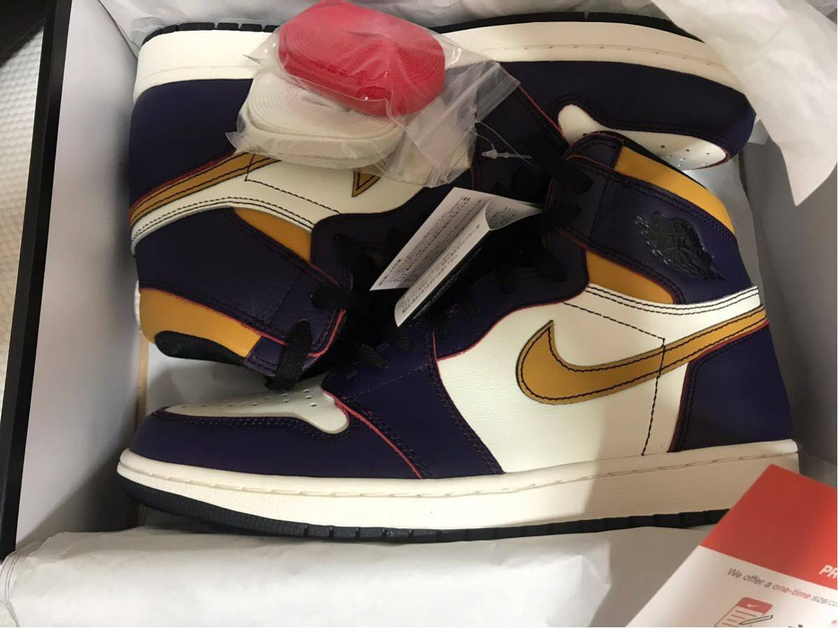 28.5cm NIKE SB AIR JORDAN 1 RETRO HIGH OG DEFIANT LA TO CHICAGO CD6578-507 ナイキ エアジョーダン1 レイカーズ US10.5 AJ1 正規品_画像3