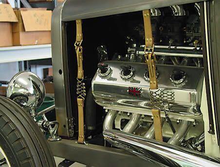 ホットロッド フードストラップキット ブラス 真鍮 hotrod ford モデルa モデルt mooneyes カスタム _画像2