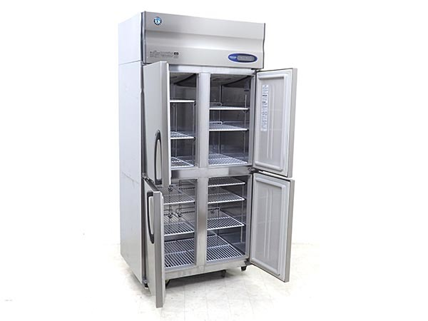 D4158【税込】2017年製 ホシザキ 業務用タテ型冷凍冷蔵庫 HRF-90ZT3(冷蔵430L/冷凍129L)/121万【営業所止め】_画像2