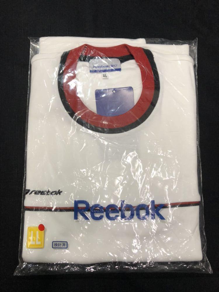 リーボック 半袖Tシャツ 体操服 体育 運動 部活 体操着  Reebok LLサイズ 大きいサイズ クルーネック 学校指定運動着 コスプレ 早640_画像5