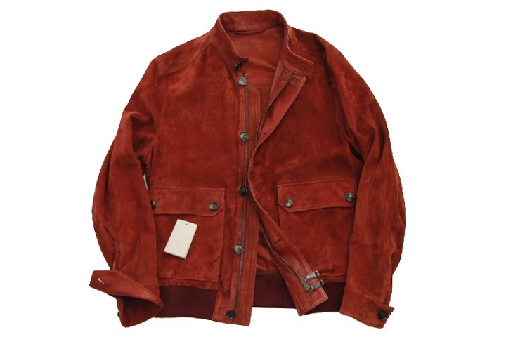 93万 新品【ブリオーニ】紳士服の頂点 バックスキン レザー●秋色が美感をそそるボルドー W-Zip ブルゾン●50_画像7