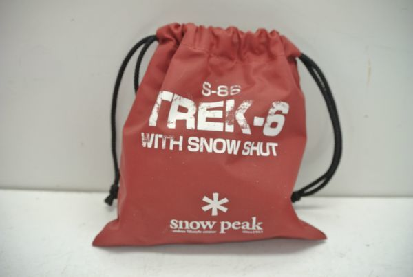 S/ 未使用品 snow peak スノーピーク 軽アイゼン TREK-6 S-86 WITH SNOW SHUT スノーシャット付き_画像6