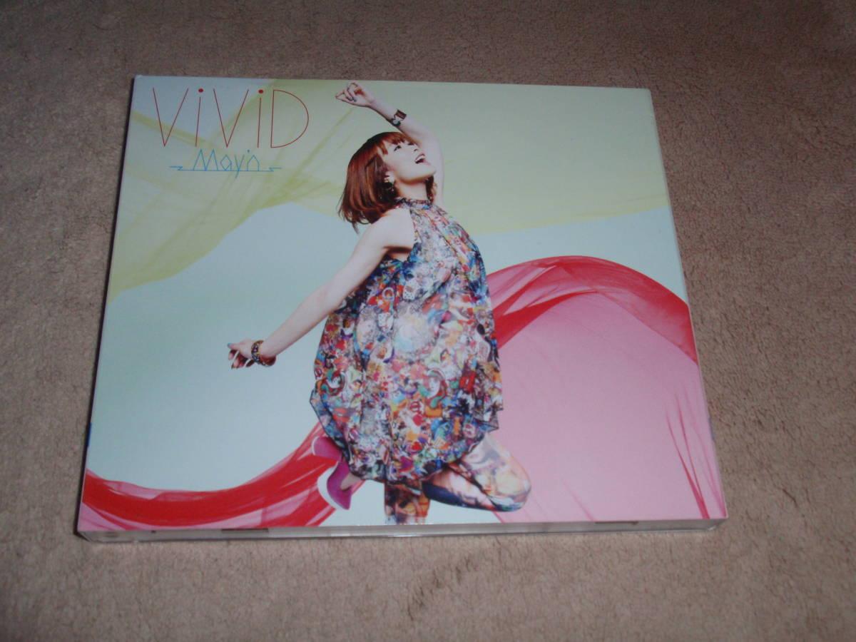 ブラッドラッド OP主題歌 初回生産限定盤DVD付 ViViD/ワイルドローズ May'n アニソン オープニングテーマ ケースヒビあり_画像2