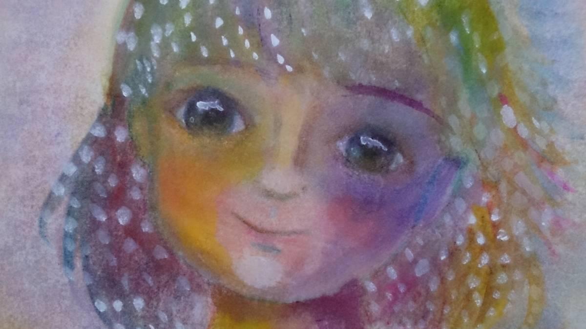 B5サイズオリジナル手描きイラスト セーラー服の少女_画像3