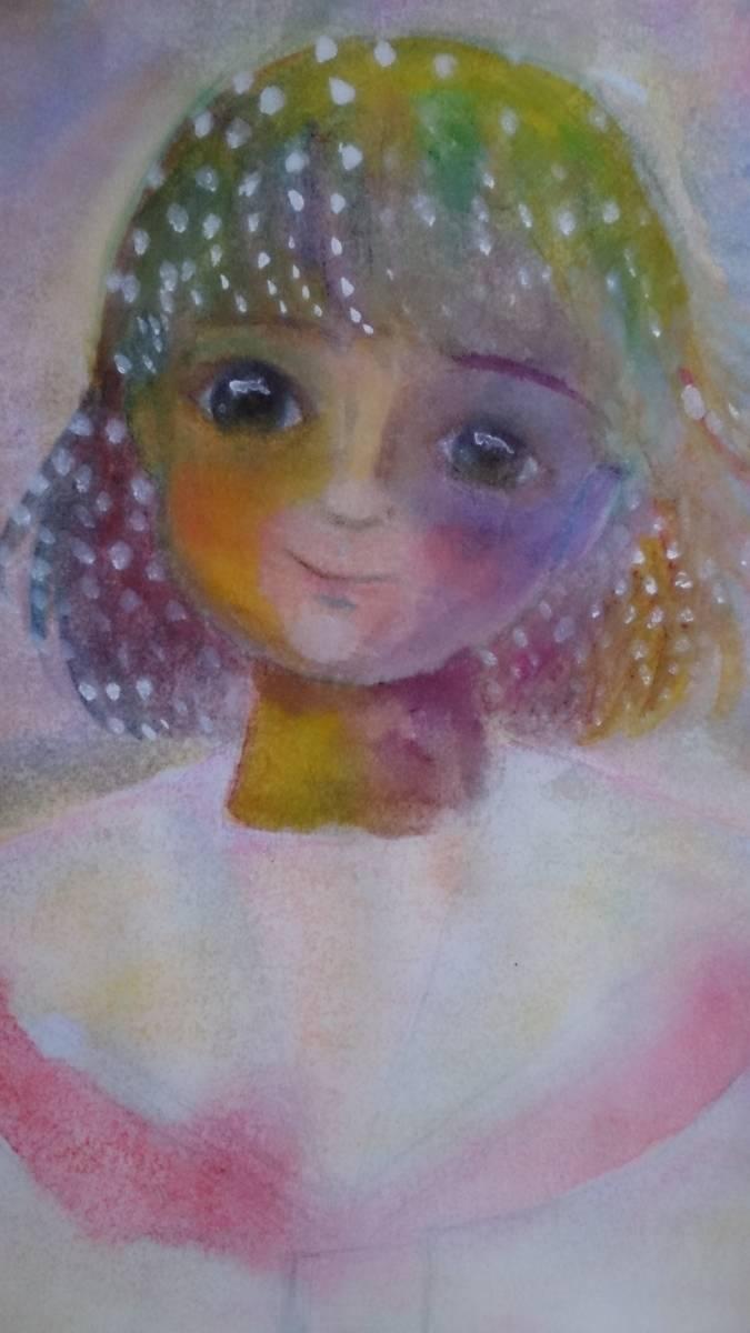 B5サイズオリジナル手描きイラスト セーラー服の少女_画像1