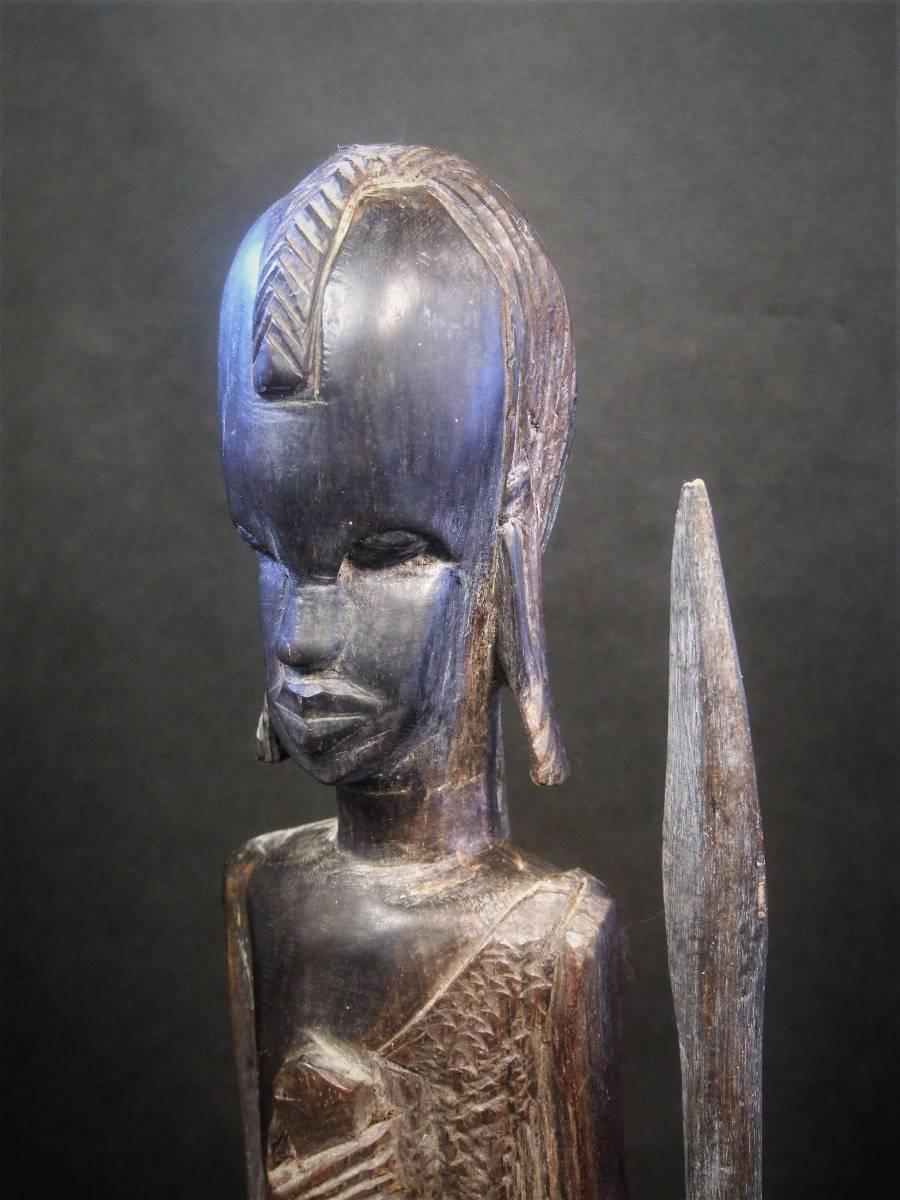 木彫 アフリカ民芸 マサイ族 木像_画像1