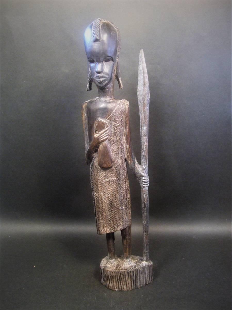 木彫 アフリカ民芸 マサイ族 木像_画像2