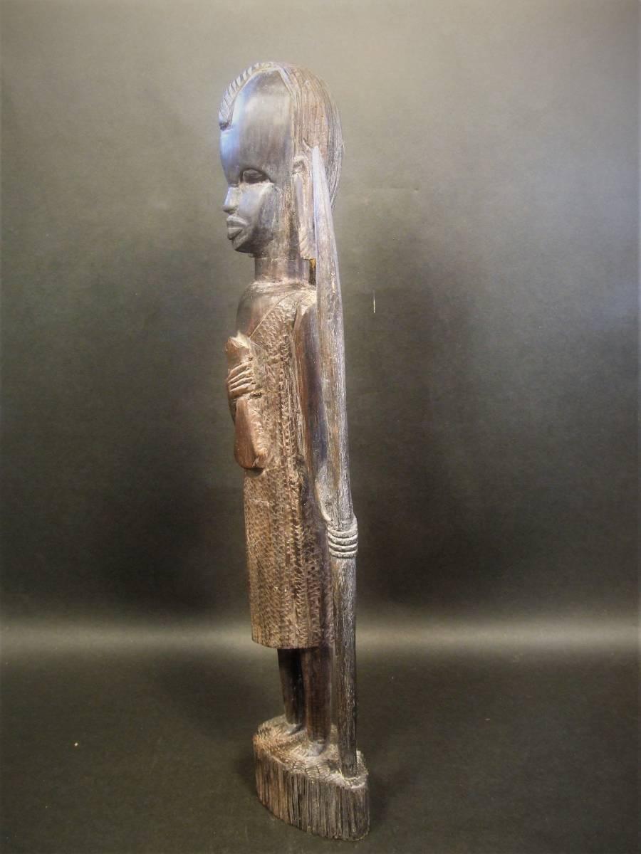 木彫 アフリカ民芸 マサイ族 木像_画像3