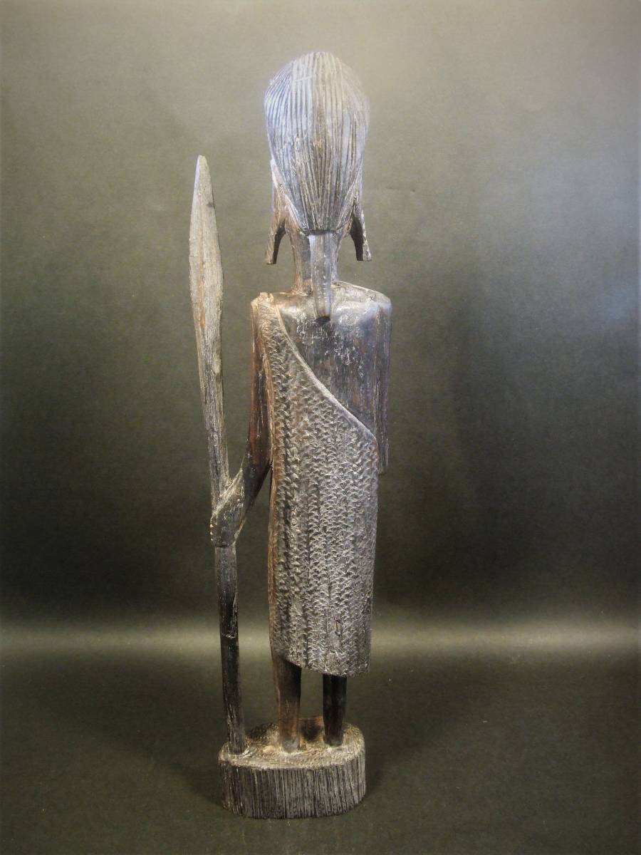 木彫 アフリカ民芸 マサイ族 木像_画像4