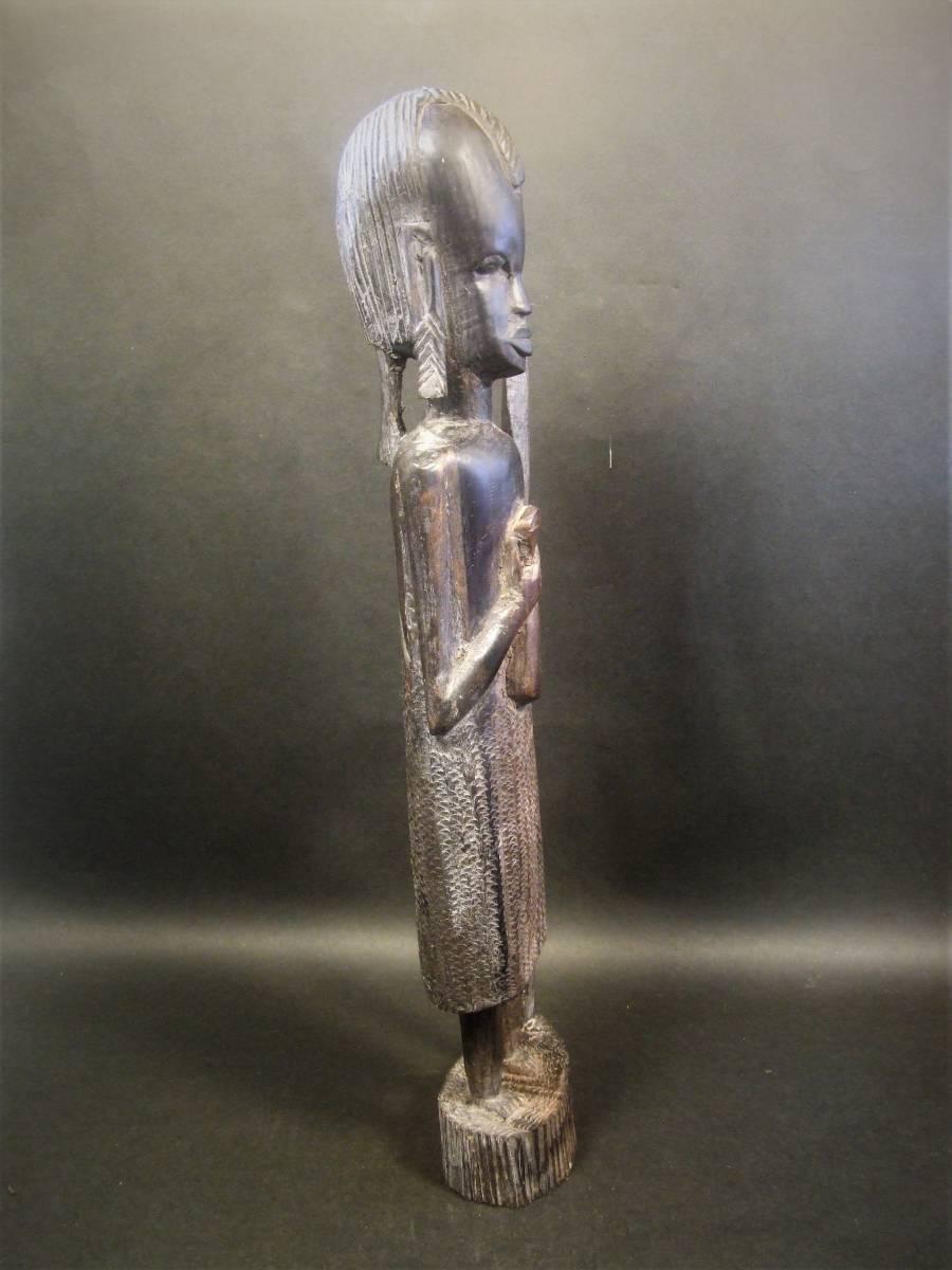 木彫 アフリカ民芸 マサイ族 木像_画像5