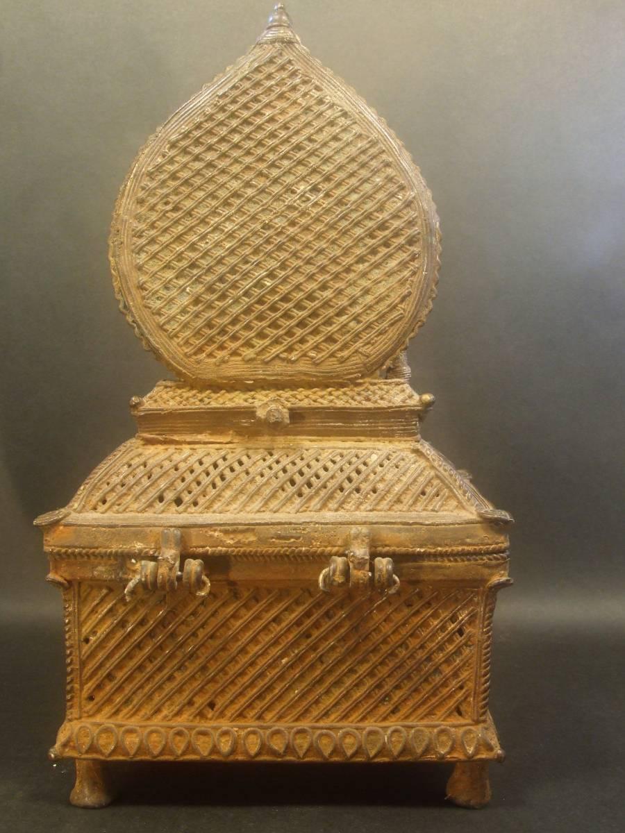 銅製 ナンディーとシヴァ神像 ヒンドゥー教美術 レアもの_画像4