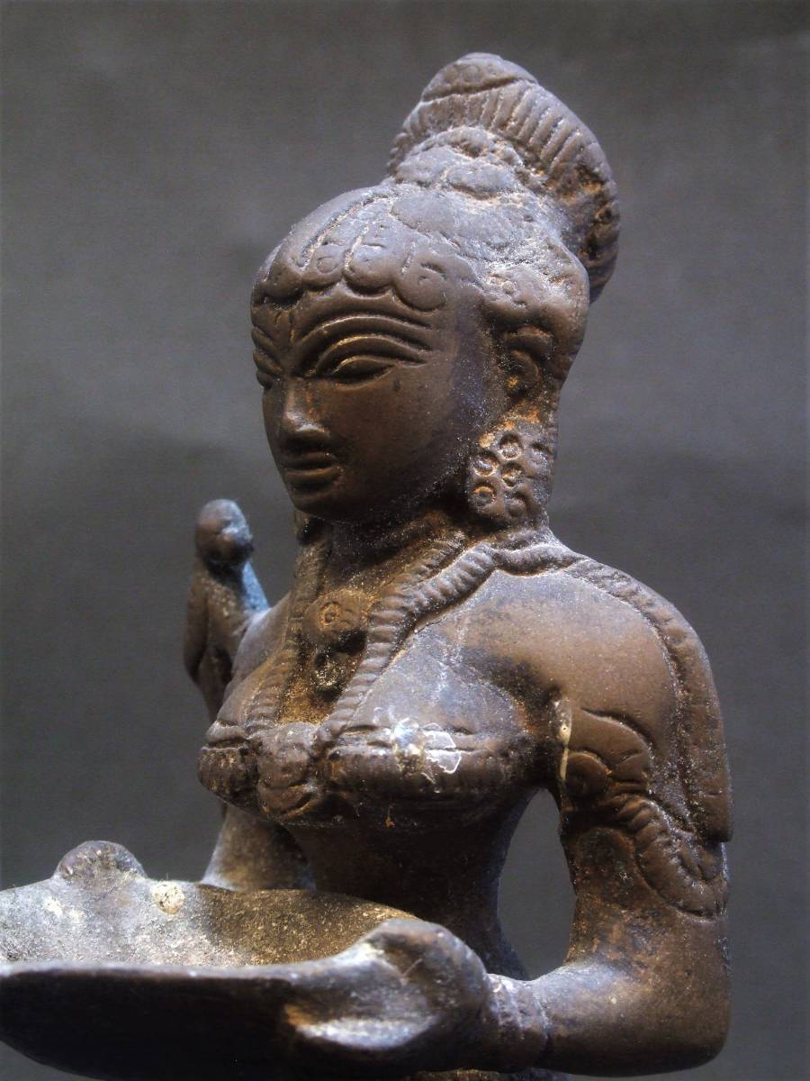 銅製 ミトゥーナ女神像 古物 原型_画像1
