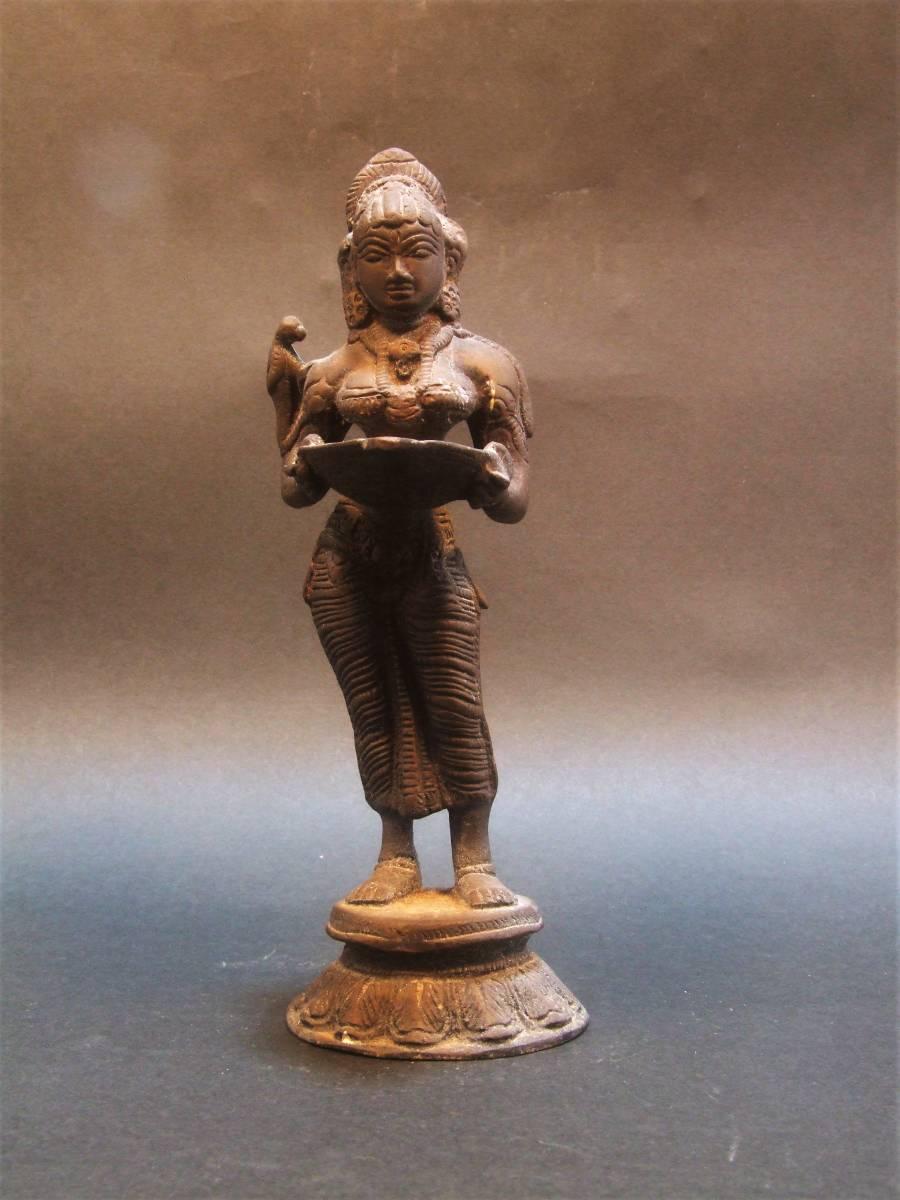 銅製 ミトゥーナ女神像 古物 原型_画像2