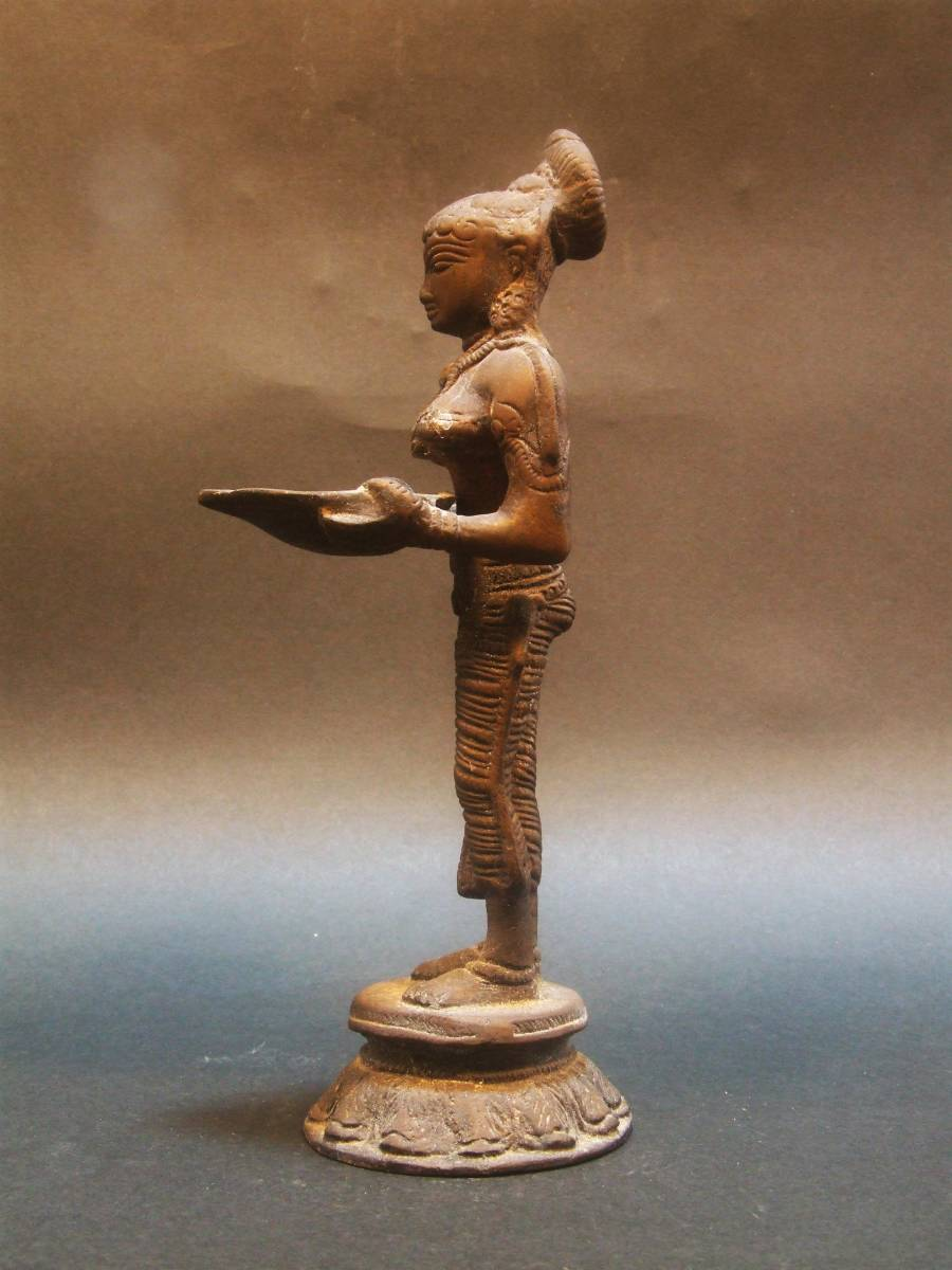銅製 ミトゥーナ女神像 古物 原型_画像3
