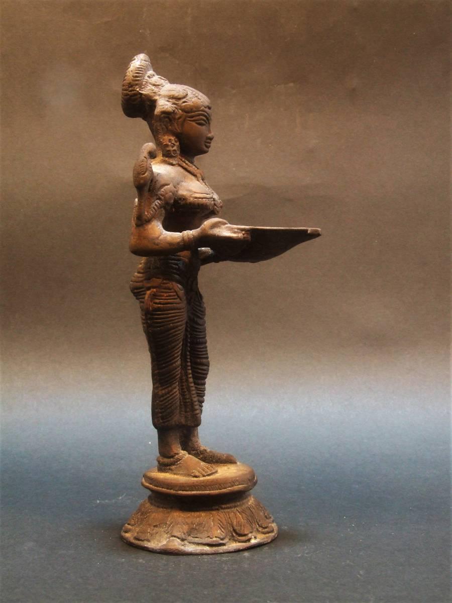 銅製 ミトゥーナ女神像 古物 原型_画像5