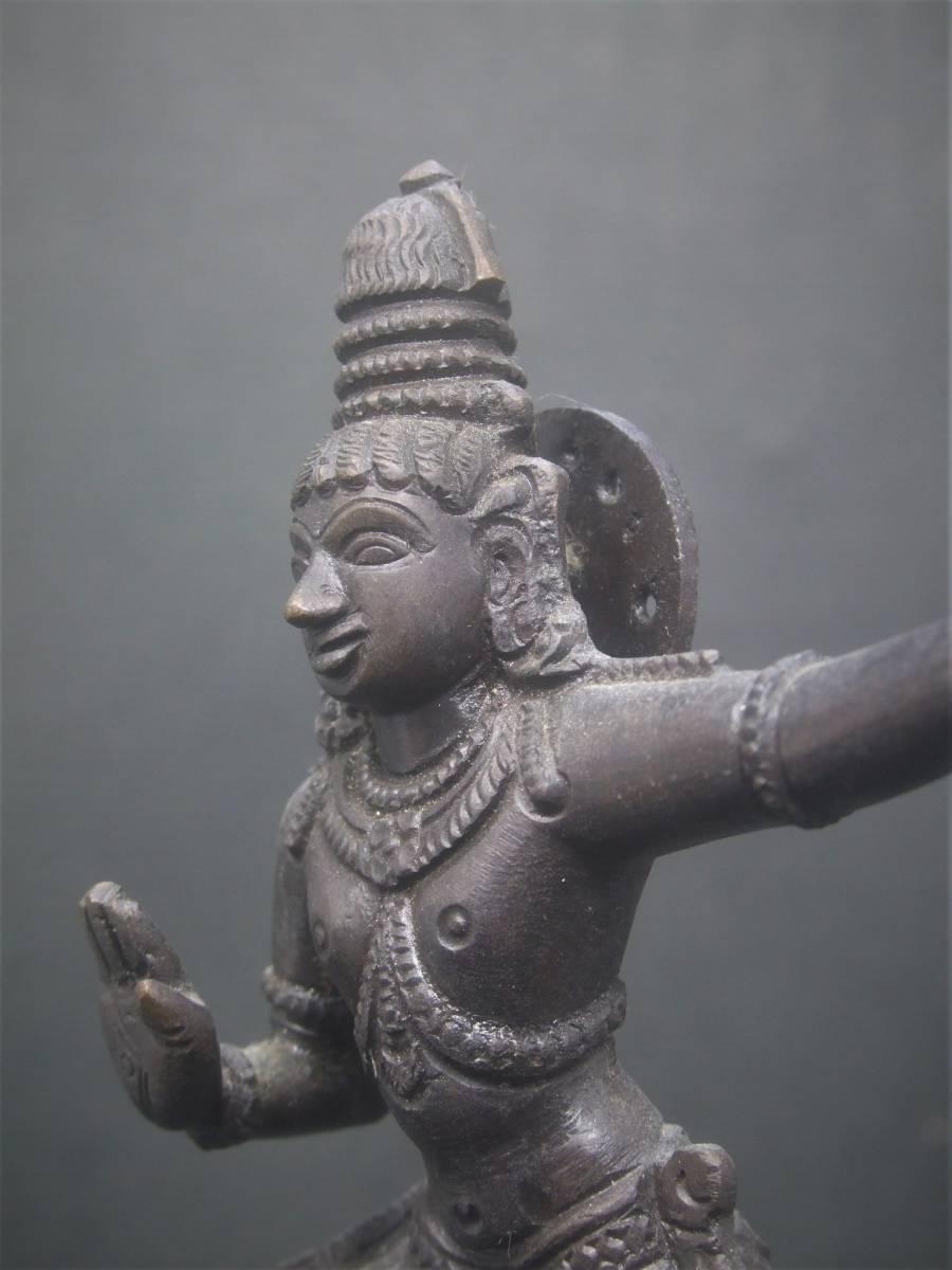 銅製 ヒンドゥー教美術 ナーガ神像 美品_画像1
