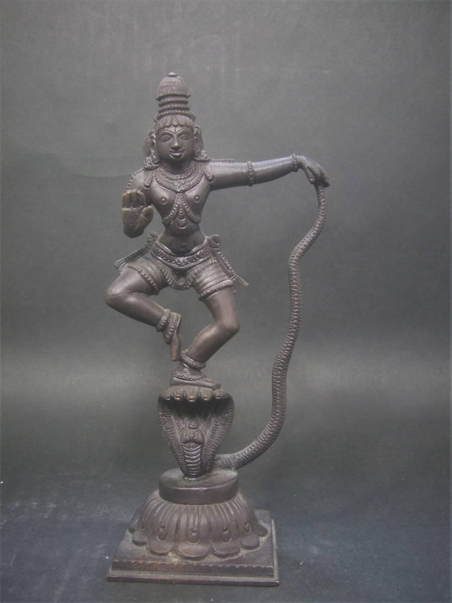 銅製 ヒンドゥー教美術 ナーガ神像 美品_画像2