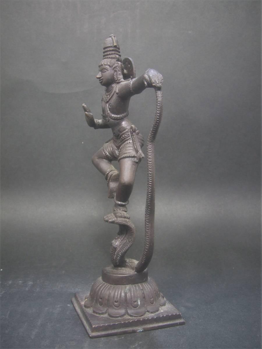銅製 ヒンドゥー教美術 ナーガ神像 美品_画像3