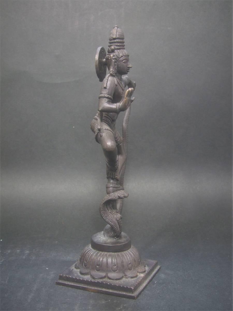 銅製 ヒンドゥー教美術 ナーガ神像 美品_画像5