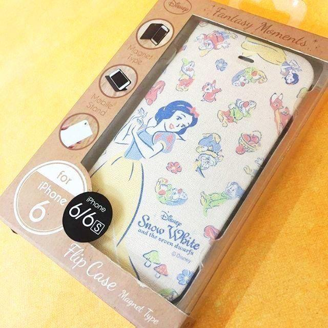 DN260C 白雪姫 ディズニー iPhone6 iPhone6s 兼用 スマホケース 手帳型 スタンド仕様 マグネットタイプ ((外箱擦り傷特価) 4536219826200