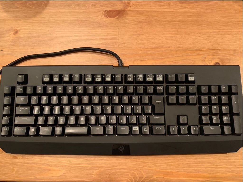 美品 RAZER BLACKWIDOW ULTIMATE 緑軸 キーボード