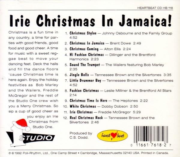 REGGAE CHRISTMAS FROM STUDIO ONE】 BOB