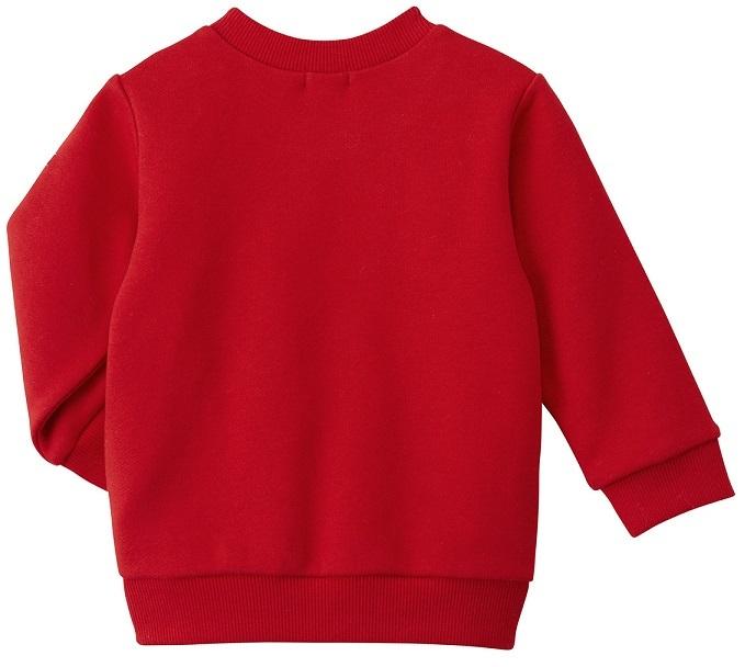 即決です!【ミキハウス】ホットビスケッツ新品未使用♪mikihouse 100cm 95cm~105cm 賑やかなプリントの可愛らしいトレーナー カラー:赤_画像3