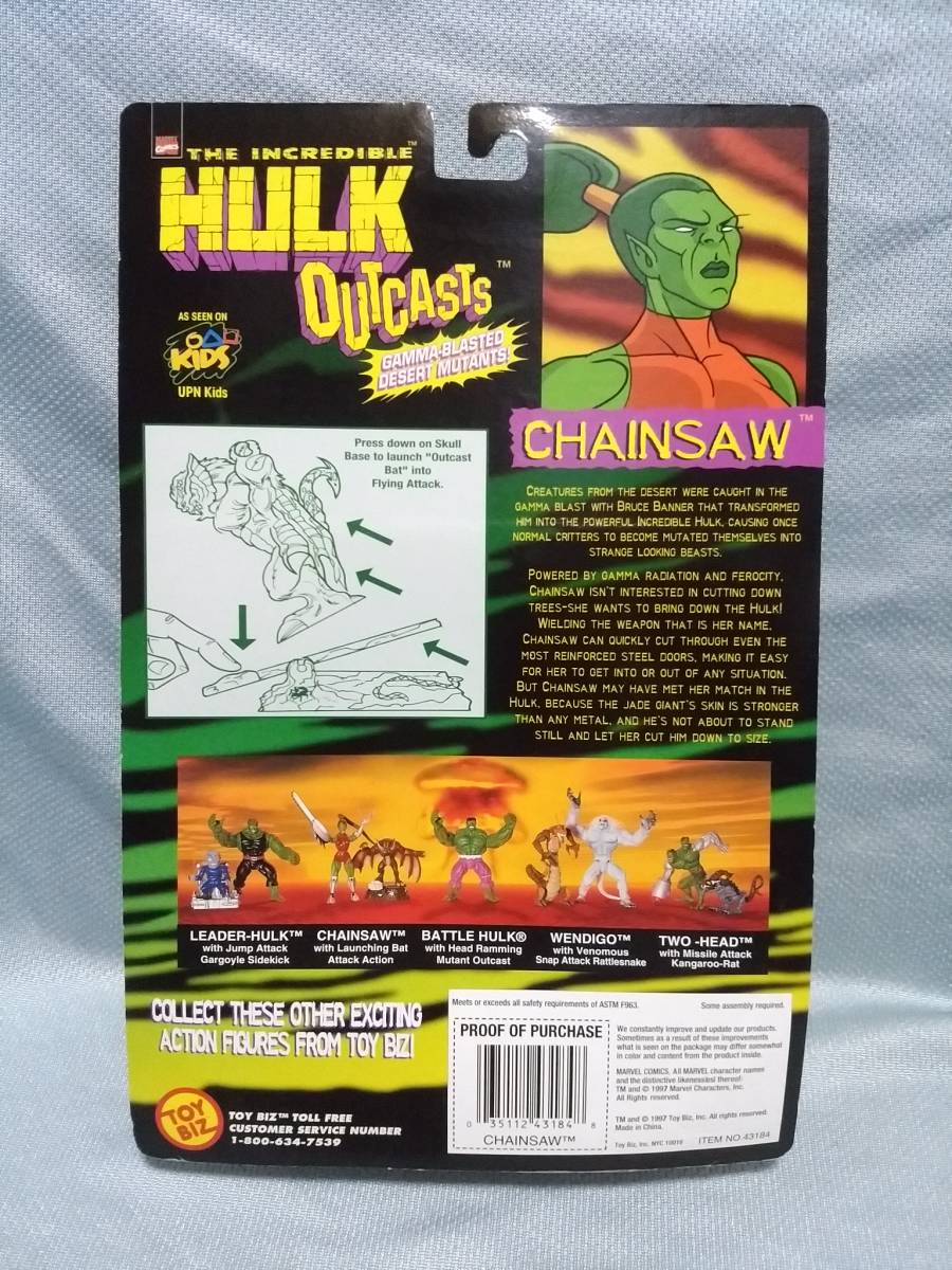 HULK  CHAINSAW w// LAUNCHING BAT ATTACK ACTION