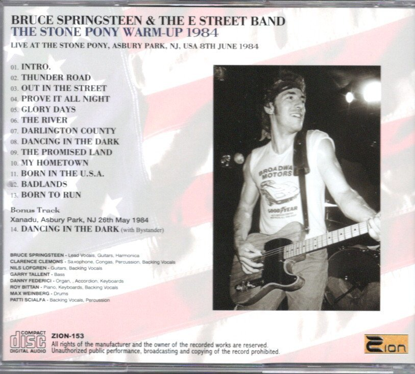 Bruce Springsteen The Stone Pony Warm Up 1984 初週CD-R付き_画像2