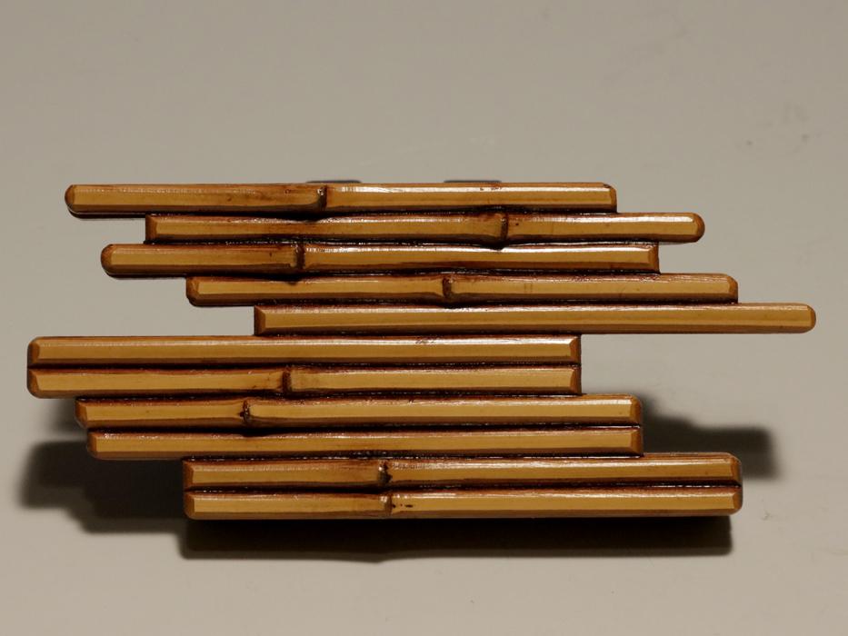 谷秀斎(造)天然木 筏(いかだ)香合 共箱 茶道具 漆工芸 漆芸 木製漆器 美品 香道具 現代工芸 木工芸 b6046k _画像8