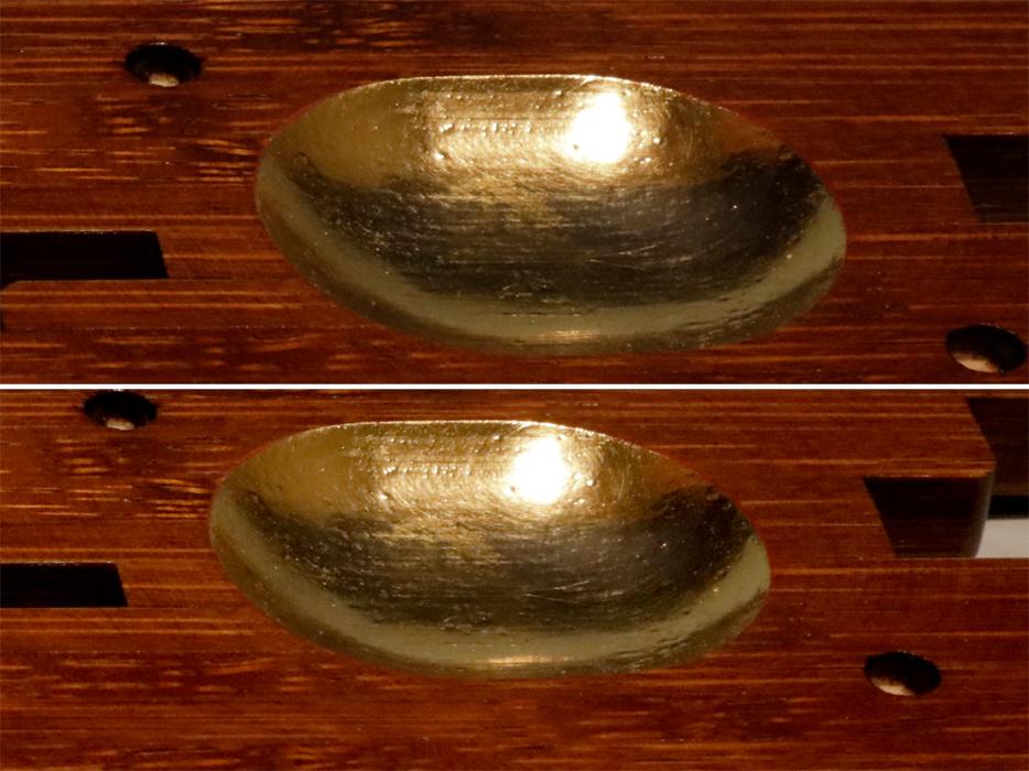 谷秀斎(造)天然木 筏(いかだ)香合 共箱 茶道具 漆工芸 漆芸 木製漆器 美品 香道具 現代工芸 木工芸 b6046k _画像7