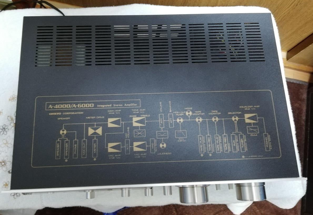 ONKYO プリメインアンプ A-6000 美品 動作品 整備品_画像4